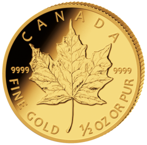 20 $ Maple Leaf 1/2 oz Au random years second choice