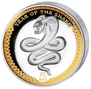5 $ Year of the Snake High Rel 2013