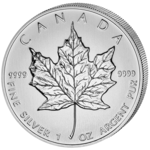 5 $ Maple Leaf 1 oz Silver 2012