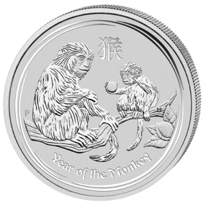 2 $ Year of the Monkey 2 oz 2016