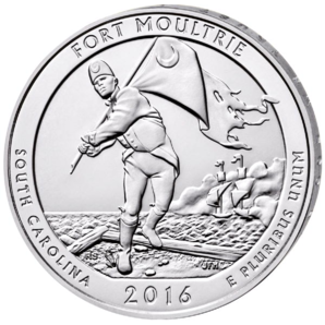 5 oz Ag Fort Moultrie (1/4 $) 2016