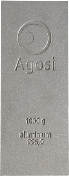 1.000 gr. Bar of aluminium