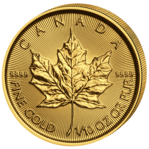 5 $ Maple Leaf 1/10 oz Au 2017