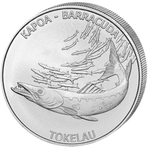 5 $ Kapoa Barracuda 1 oz Ag 2017