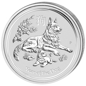 30 $ Year of the dog 1 kg Ag 2018