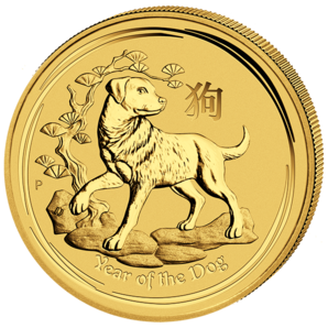 200 $ Year of the dog 2 oz Au 2018