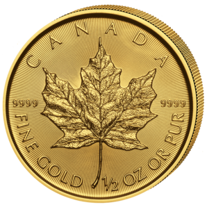 20 $ Maple Leaf 1/2 oz Au 2018