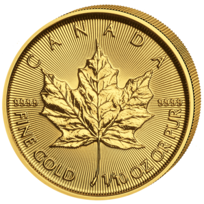 5 $ Maple Leaf 1/10 oz Au 2018