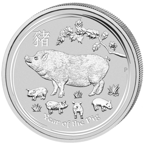 8 $ Year of the Pig (5 oz Ag) 2019
