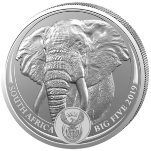 5 Rand BigFive Elefant 1 oz Ag 2019