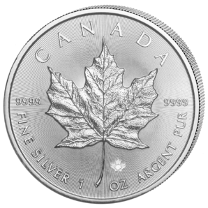 5 $ Maple Leaf 1 oz Ag 2020