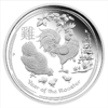 1 $ Year of the Rooster 1 oz Ag 2017 Lunar II Proof