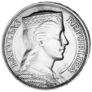 5 Lati Crowned Head 1929-32 random years